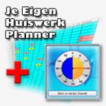 Combipakket Aftelklok en Je eigen huiswerkplanner